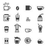 Kop koffiepictogrammen Royalty-vrije Stock Fotografie