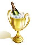 Kop met champagne Stock Fotografie