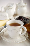 Kop met Engelse thee stock afbeelding