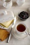 Kop met Engelse thee stock afbeeldingen
