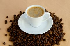 Kop met koffie Stock Foto's