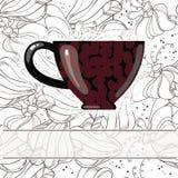 Kop met koffie Stock Afbeelding