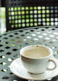 Kop met koffievlek Royalty-vrije Stock Afbeeldingen