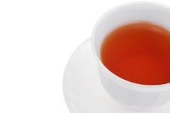 Kop thee die op een wit wordt geïsoleerdn. Stock Foto