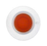 Kop thee die op een wit wordt geïsoleerdt. Stock Afbeelding
