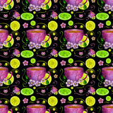 Kop thee en citroenen Stock Fotografie