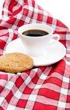 Kop thee en koekje stock foto's
