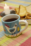 Kop thee en koekjes Stock Fotografie
