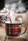 Kop thee en lepel stock foto