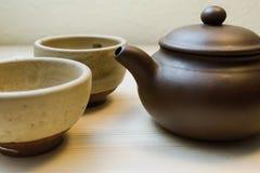 Kop thee en theepot Stock Fotografie