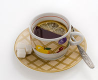 Kop thee met citroen Royalty-vrije Stock Fotografie
