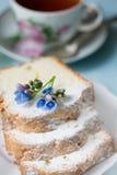 Kop thee met een vruchtencake Stock Afbeeldingen