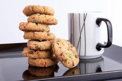 Kop thee met koekjes Stock Foto