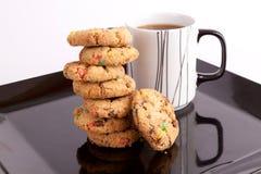Kop thee met koekjes Stock Foto's