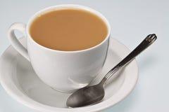Kop thee met lepel Royalty-vrije Stock Foto