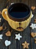 Kop thee met suiker Stock Afbeelding
