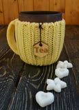 Kop thee met suiker Stock Foto's