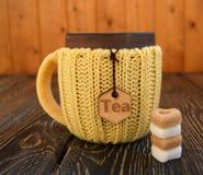 Kop thee met suiker Royalty-vrije Stock Fotografie