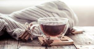 Kop thee op een houten lijst Royalty-vrije Stock Foto