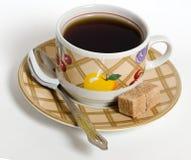 Kop thee op een lichte achtergrond stock afbeeldingen
