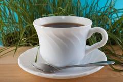 Kop thee op een lijst Stock Fotografie