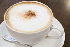 Kop van cappuccino Royalty-vrije Stock Foto's
