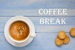Kop van cappuccino Stock Foto's