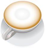 Kop van cappuccino stock illustratie