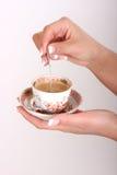 Kop van coffe ter beschikking Stock Afbeelding