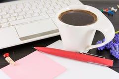 Kop van coffe voor een goede werkdag Royalty-vrije Stock Fotografie
