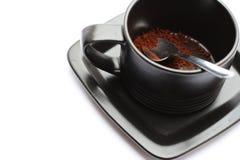 Kop van coffe zonder water Stock Foto