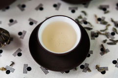 Kop van de Groene reeks van de thee Japanse stijl Stock Foto's