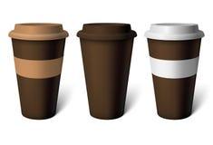 Kop van de model de bruine koffie Stock Foto's