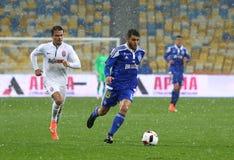 Kop van de Oekraïne: FC dynamo Kyiv v Zorya Luhansk in Kiev Stock Foto's