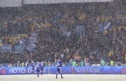 Kop van de Oekraïne: FC dynamo Kyiv v Zorya Luhansk in Kiev Royalty-vrije Stock Fotografie