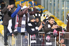 Kop van de Oekraïne: FC dynamo Kyiv v Zorya Luhansk in Kiev Stock Afbeeldingen