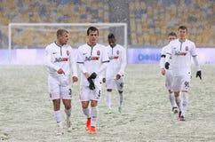 Kop van de Oekraïne: FC dynamo Kyiv v Zorya Luhansk in Kiev Royalty-vrije Stock Foto's