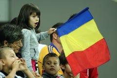 Kop van de wereld 2014 Inleidingen: Roemenië-Andorra Stock Foto