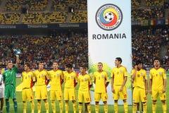 Kop van de wereld 2014 Inleidingen: Roemenië-Andorra Stock Foto's