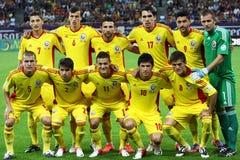 Kop van de wereld 2014 Inleidingen: Roemenië-Andorra Stock Afbeelding