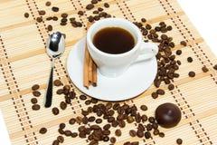Kop van espresso Stock Afbeeldingen