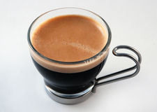 Kop van Espresso, demitasse Stock Foto's