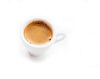 Kop van geïsoleerde koffie Stock Fotografie