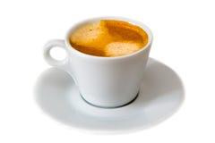 Kop van geïsoleerde koffie royalty-vrije stock afbeelding