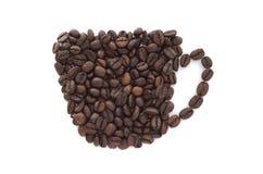 Kop van (geïsoleerdej) koffie Royalty-vrije Stock Afbeeldingen