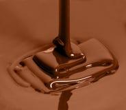 Kop van gesmolten chocolade Stock Foto