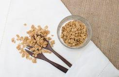 Kop van granolagraankorrel Royalty-vrije Stock Foto