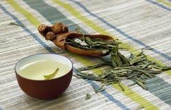 Kop van groene thee stock afbeeldingen