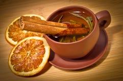 Kop van groene thee Royalty-vrije Stock Foto's