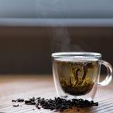 Kop van groene thee Stock Foto's